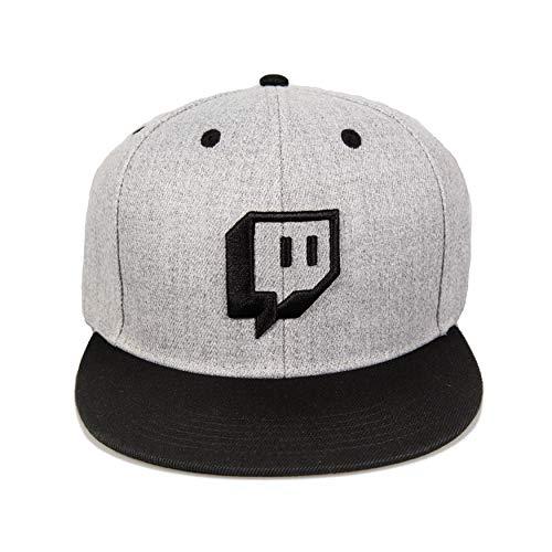 Twitch Embroidered Glitch Snapback Grey