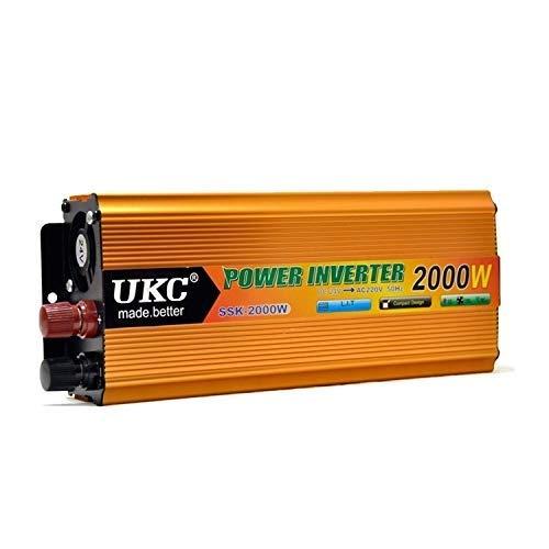 DDNB Power Inverter 2000W Auto Power Inverter Sinus-2000W Inverter 24V bis 220V Home/Fotovoltaik/Auto Wechselrichter Modifizierte Power Inverter