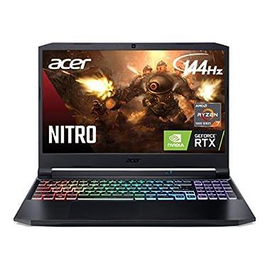 Acer Nitro 5 AN515-45-R92M Gaming Laptop, AMD Ryzen 7 5800H (8-Core) | NVIDIA GeForce RTX 3060 Laptop GPU |15.6″ FHD 144Hz IPS Display | 16GB DDR4 | 512GB NVMe SSD | WiFi 6 | RGB Backlit Keyboard