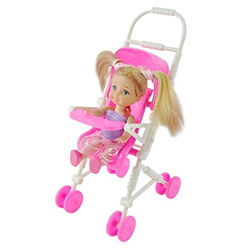 bambola kelly Uteruik - Passeggino per bambini per mobili in plastica per bambole Kelly