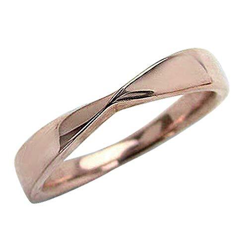 [ジュエリーアイ]Jewelry i 指輪 無限 ツイスト デザインリング ピンクゴールドK10 ピンキーリング 結婚指輪 単品 ギフト 14.5号