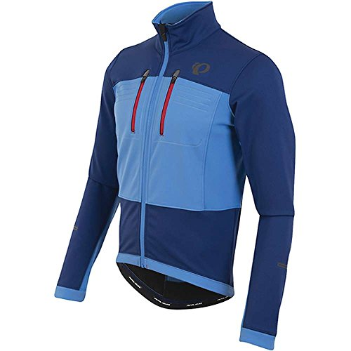 PEARL IZUMI Elite Escape Chaqueta Softshell, Hombre, Azul (Blue X), Medium