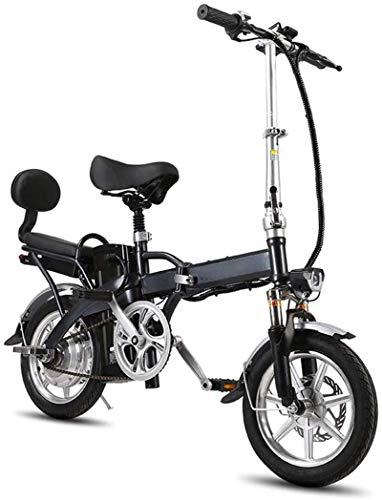 Bicicleta, 14 'Bicicleta eléctrica de neumáticos / bicicleta de e-bicicleta / de viaje plegable con marco de aleación plegable, 250W 48V 16Ah Pantalla LCD Pantalla de mujeres Terrain Deporte Coche Sno