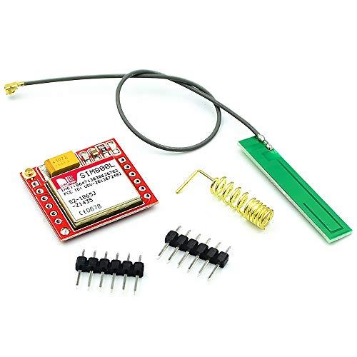 Jun-Saxifragelec SIM 800L GPRS Adapterkarte GSM-Modul SIM-Kartensteckplatz auf Karte mit Antenne 3.7-4.2V