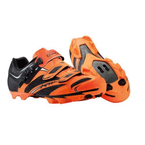 Northwave Scorpius S.R.S. MTB Fahrrad Schuhe orange/schwarz 2014: Größe: 41