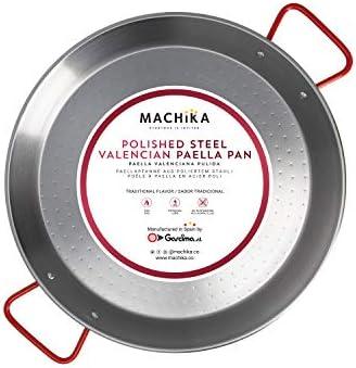 Machika Polished Steel Paella Pan 15 inch 38 cm product image