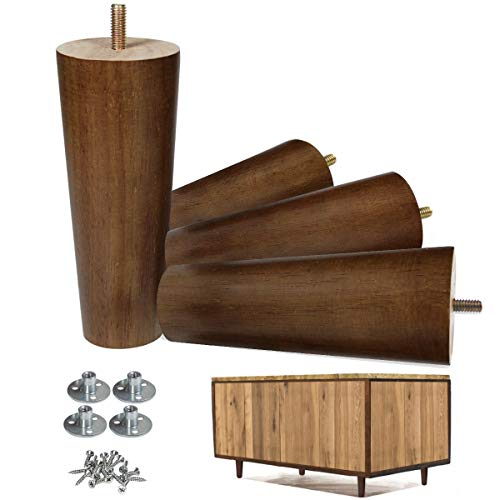 AORYVIC Furniture Legs Wood Sofa Legs Replacement Legs for Cabinet Vanity Couch Chair Dresser Pack of 4 (6 inch)