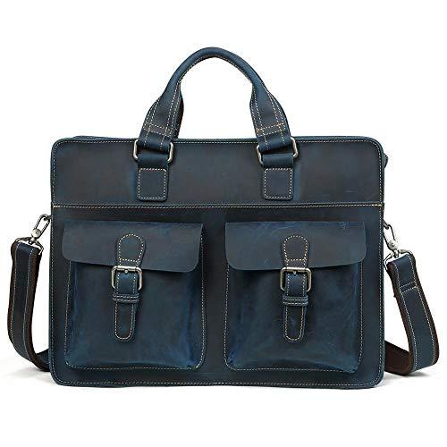 Manufacture schoudertas voor heren, diagonaal pakket, leren man-tassen, laptoptassen, vintage-laptop, leren tas van 14 inch voor mannen
