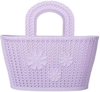 Boîte de Rangement de Bureau de Panier de Bain Portable Petite Cuisine Panier Panier de Rangement Panier Violet