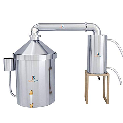 BSJZ 32 L / 48 L Kits de destilador de Alcohol Moonshine Still Spirits 304 Destilador de Aceite Esencial de Agua para el hogar de Acero Inoxidable Enfriador desmonta