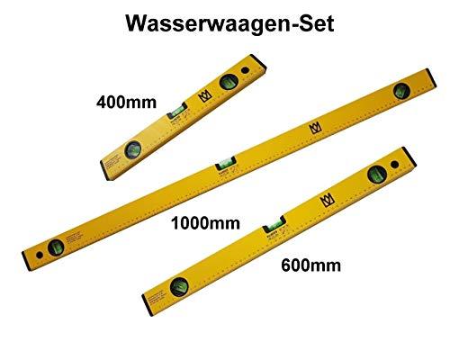 Wasserwaagen-Set mit 3 Libellen 1x 1000mm 1x 600mm 1x 400mm Neu