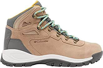 Columbia womens Newton Ridge Plus Waterproof Amped Boot Hiking Shoe, Oxford Tan/Dusty Green, 10 Wide US
