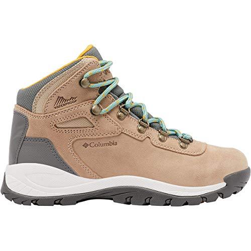 Columbia womens Newton Ridge Plus Waterproof Amped hiking boots, Oxford Tan/Dusty Green, 6.5 US