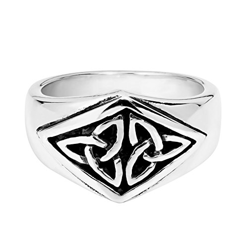 AeraVida Nice Celtic Triquetra Knot .925 Sterling Silver Ring (9)