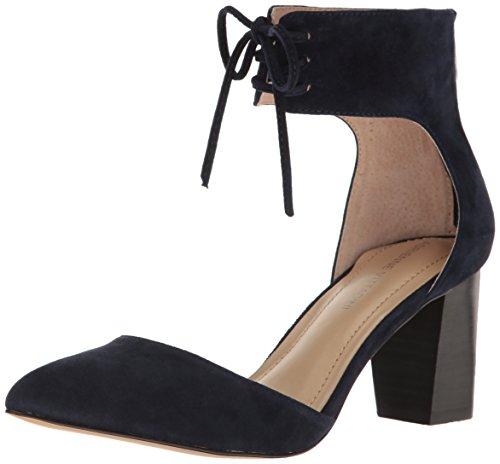 ADRIENNE VITTADINI Footwear Women's Nicole D'Orsay Pump, Navy, 6 M US