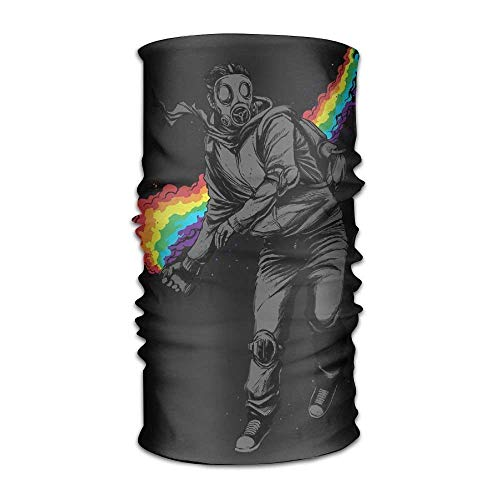 Gas Mask & Rainbow Colors Headwear For Men And Women-Yoga Sports Travel...
