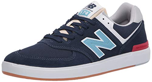 New Balance Men's All Coasts 574 Skate Low Top Sneaker Shoes Navy/Blue 10.5