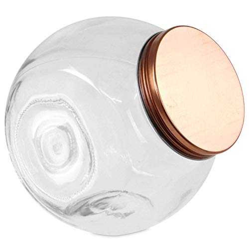 Air Tight Glass Penny Candy Jars Large Storage Glass Jars 1.6 Litre Capacity