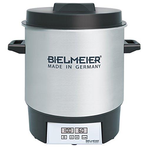 BIELMEIER Einkochautomat 1800 W 27 Liter Edelstahl BHG411.0