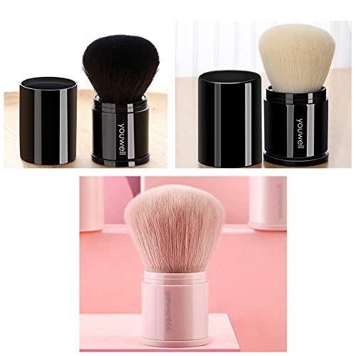 Jieqiong Voyage cosmétique de Brosse Portant des Outils télescopiques de Maquillage avec la Couverture d'une Brosse de Maquillage de débutant,Blanc