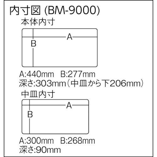 メイホウ(MEIHO)バケットマウスBM-9000ブラック/オフホワイト35L