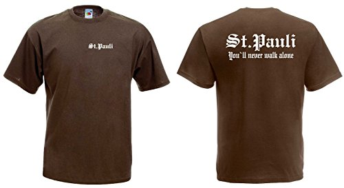World-of-Shirt Herren T-Shirt St. Pauli Ultras Shirtbraun-L