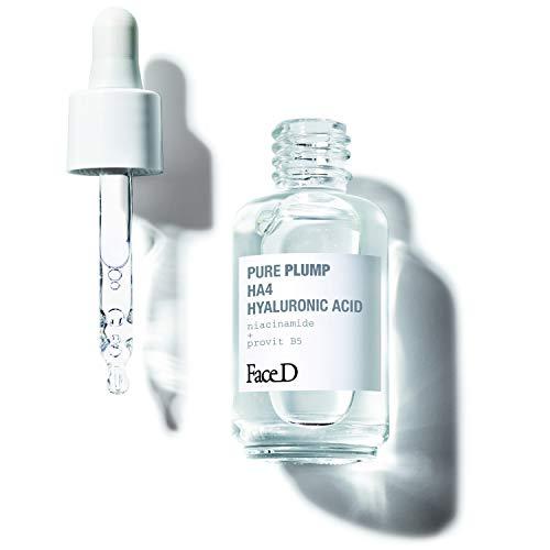 Face D | Pure Plump, Sérum à l Acide Hyaluronique HA4 à Effet Raffermissant Immédiat, 30 ml