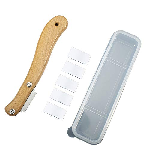 Bäckermesser, Brot Lame mit Holzgriff, Baguettemesser, Cutter Slashing Tool, mit Kunststoffschutzhülle 5 Klingen, für DIY Brotteig Backformen Küche