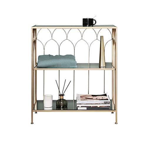 kerryshop Multifunctional storage rack Nordic Wrought Iron Shelf Corner Shelf Floor Glass Cabinet Against Wall Storage Shelf Shelf