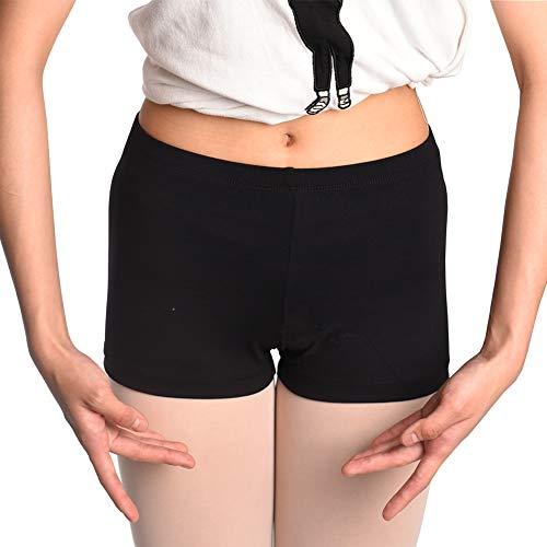 DANCEYOU Shorts für Mädchen und Damen Schwarz Lycra Shorts fürs Tanzen, Training, Radfahren,Yoga