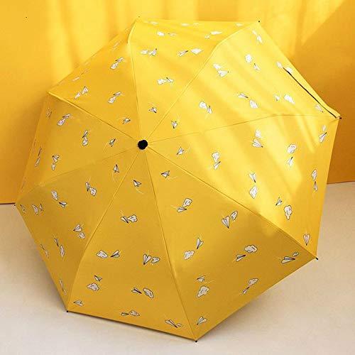 Sombrilla Plegable para el Sol, para Lluvia, para Mujer, con Forma de corazón, paraViajes de Verano, Sombrilla - 11
