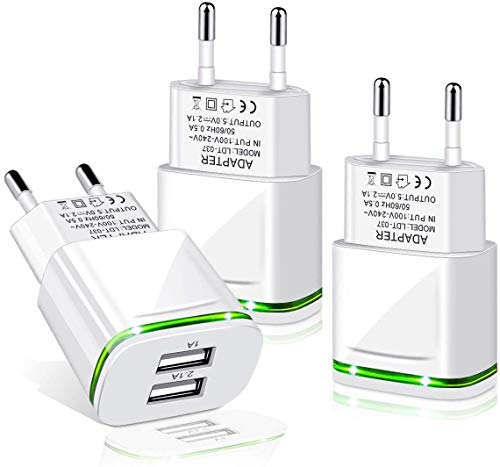 PICILOO USB Ladegerät Stecker 2.1A 3-Pack Ladeadapter 2 Ports Netzteil Adapter Stromadapter Netzstecker Steckdose Ladestecker kompatibel für iPhone 11 XR X XS Max 8 7 6 6S Plus 5S, Samsung, Android