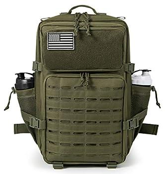 QT&QY Military Tactical Backpacks for Men Molle Daypack 45L Lage 3 Day Bug Out Bag Hiking Rucksack Witch Bottle Holder