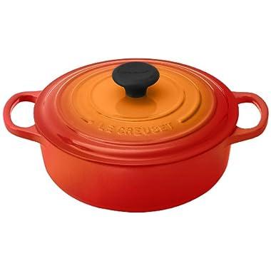 Le Creuset Signature Round Wide 3-1/2-Quart Dutch Oven, Flame