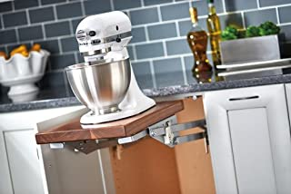 Base Cabinet Mixer Lifts with Soft-Close Heavy Duty Mixer Lift with Soft-Close, Mixer Lift w/Soft Close, See Illustration Dimensions Silver Powder Coat Finish
