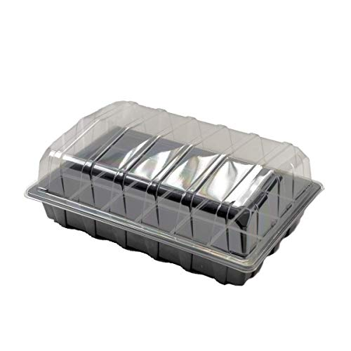 Nutley Ensemble de Plateaux propagateurs à semences 24 cellules 10 pièces Taille complète Noir