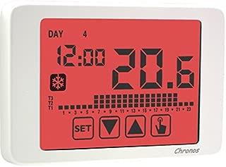 Vemer - Cronotermostato de paredChronos 230, programación semanal, alimentación de 230V, blanco, cód. VE453700