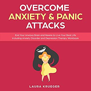 Overcome Anxiety & Panic Attacks audiobook cover art