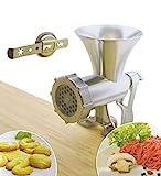 Tredoni Desk Mounted Manual Meat/Vegetable Mincer Grinder, Aluminum Biscuit Machine Cookie Maker