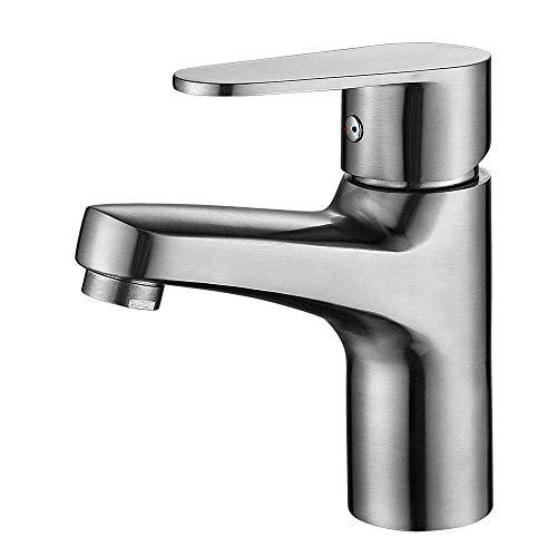 ZYL-YL 304 baño lavabo grifo caliente y frío hogar de acero inoxidable lavabo lavabo grifo dibujo válvula asiento diámetro 32