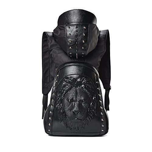 Skymoo Sac à dos tendance 2021 en cuir avec tête de mort et rivets en forme de tête de mort, C (Noir) - GTB-84987812
