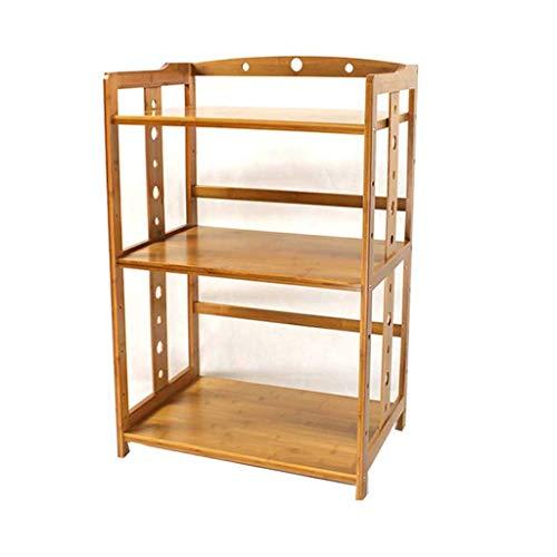 ShiSyan Nivel 3 Rack de bambú Estante de la Cocina de Almacenamiento de microonda especiero Cocina Estante de la Esquina condimento Rack Ajustable, de pie en el mostrador Rejilla de Horno