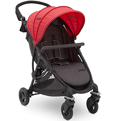 Why Choose Jeep Gemini Stroller by Delta Children, Grey Tweed with Red