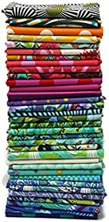 10 Fat Quarters - Tula Pink Free Spirit Assorted Floral Flowers Animals Geometric Classic Quality Quilters Cotton Fabrics FreeSpirit Fat Quarter Bundles Pre-Cuts M222.16