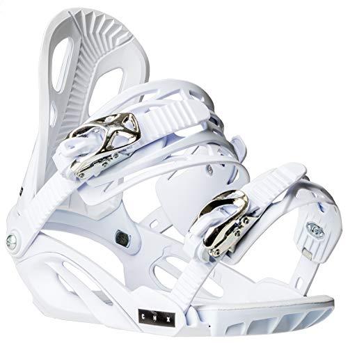 Chamonix Cheval Snowboard Bindings Mens Sz L White