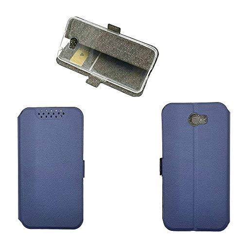 QiongniAN Hülle für Huawei Y6 II Compact Hülle Leder,Hülle für Huawei Y5 II CUN-L01 / Y5II CUN-L03 CUN-L23 CUN-L33 / Y6II Compact LYO-L21 LYO-L01 / Honor 5 Play Hülle Klapphülle Handytasche Hülle Blue