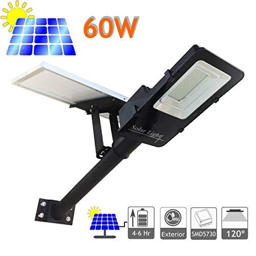 JANDEI - Farola LED 60W Solar Exterior IP65 Panel Orientable