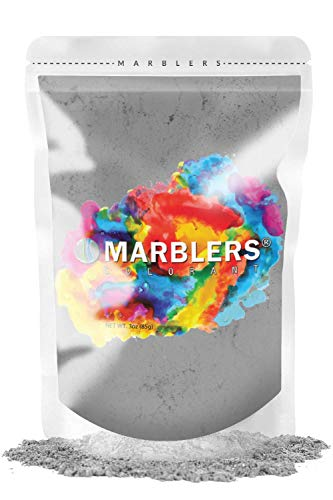 MARBLERS Mica Powder Colorant 3oz (85g) [Light Gray]   Pearlescent Pigment   Tint   Pure Mica Powder for Resin   Dye   Non-Toxic   Great for Epoxy, Soap, Nail Polish, Cosmetics and Bath Bombs…