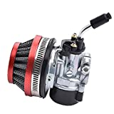 Liadance Filtro De Aire del Carburador del Conjunto Sustituible En Carburador Kit De Filtros De Aire Compatible con 49cc 50cc 60cc 66cc 70cc 80cc Motor De 2 Tiempos