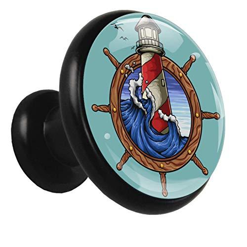 Xingruyun Tirador de Cajon Delfín del océano Tirador de Muebles Tirador de Puerta Tirador de Gabinete Tirador 4Pcs 3.2x3x1.6cm